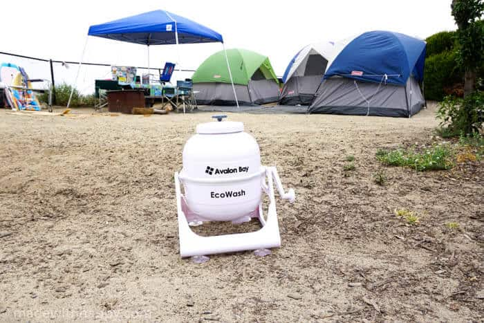 Washing Clothes While Camping | Made with Happy Camper | How to wash clothes while camping | www.madewithhappy.com