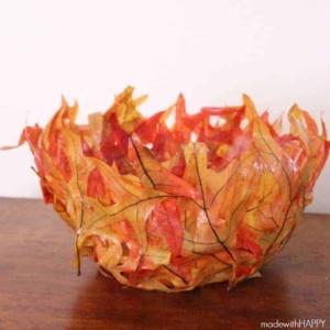 Leaf Bowl | Fall DIY Craft | www.madewithHAPPY.com
