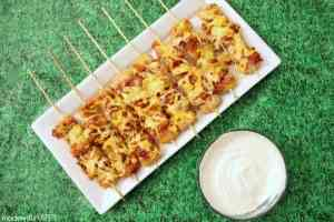 Loaded Tater Tot Skewers
