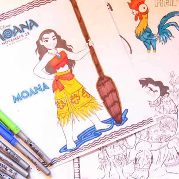 Disney Moana Coloring Pages and Activities