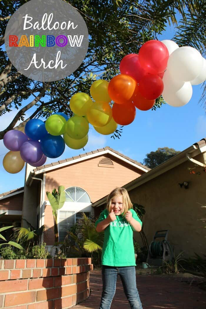 How to make a balloon arch | Rainbow Balloon Arch | Rainbow Party | St. Patrick's Day Celebration | www.madewithHAPPY.com