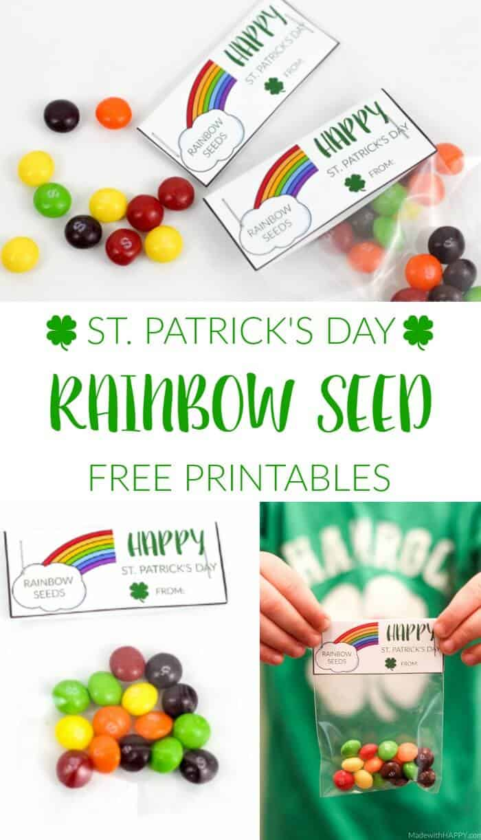 rainbow seed printable made with happy