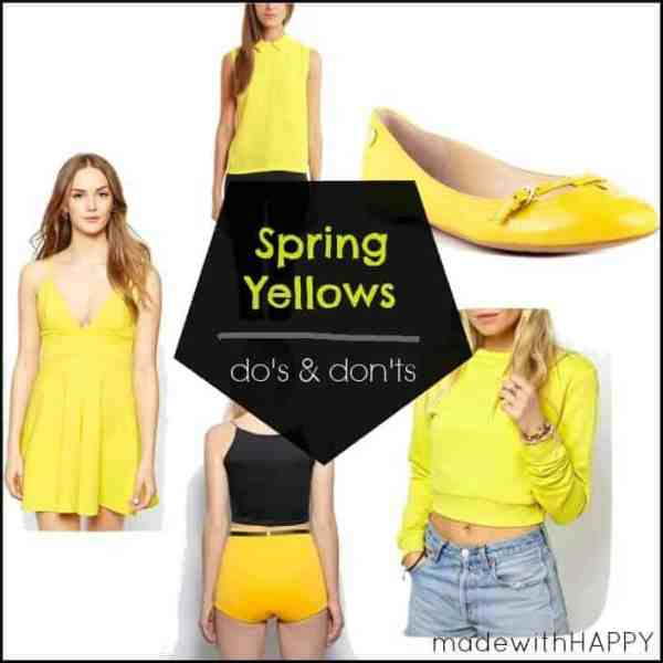 Spring 2015 Yellow Trend – Do's + Don'ts