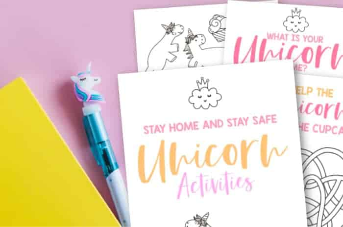 Free Unicorn Printables Activity Pack Made With Happy