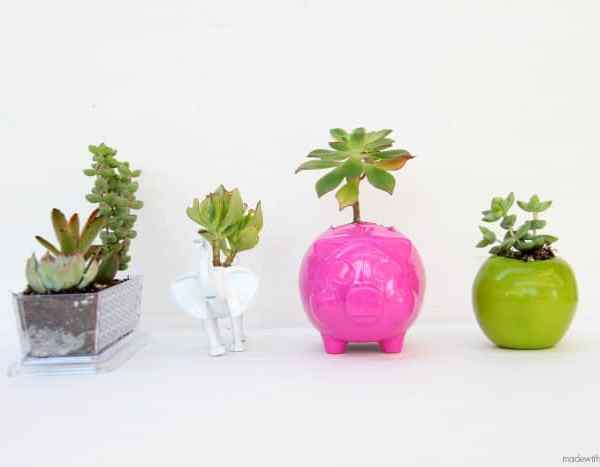 Unique Dollar Store Planters