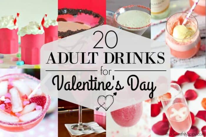 20 Valentineu0027s Day Drinks | Adult Drinks For Valentines Day! Pink And Red  Drinks |