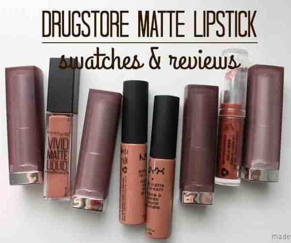 Drugstore Matte Lipsticks Swatches & Reviews