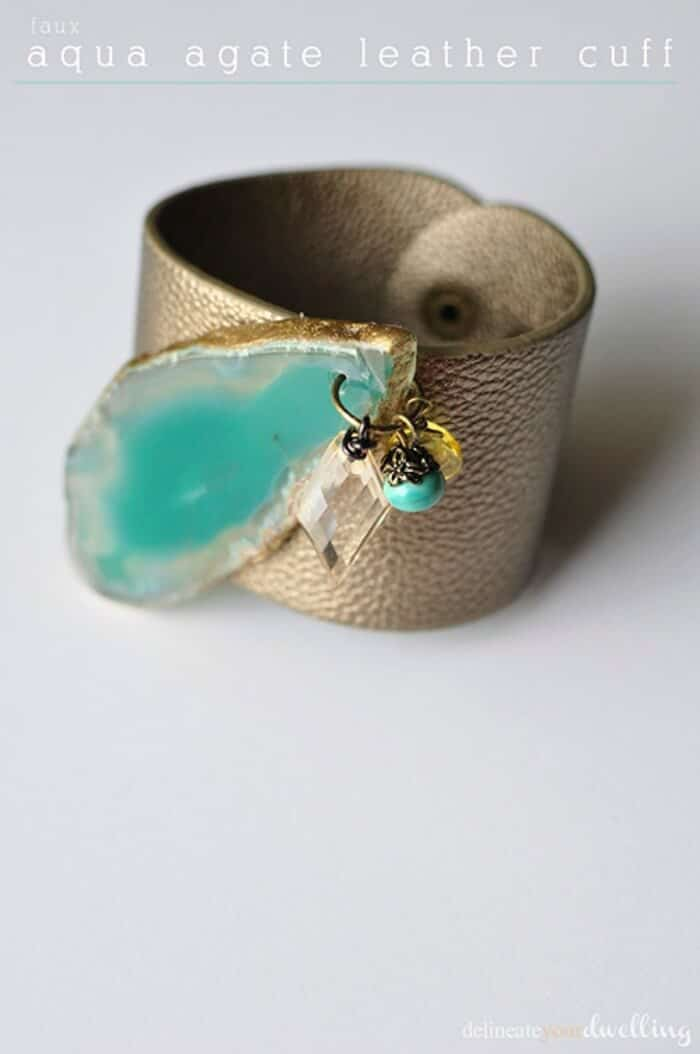 faux-aqua-agate-leather-cuff