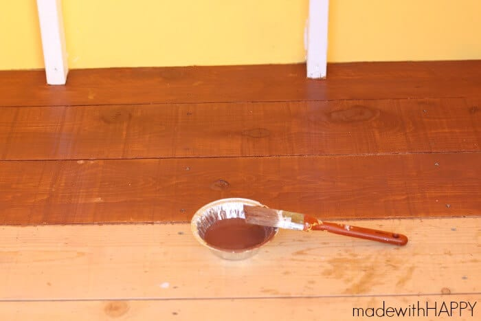 floor stain making the made with happy treehouse floor stairs made with