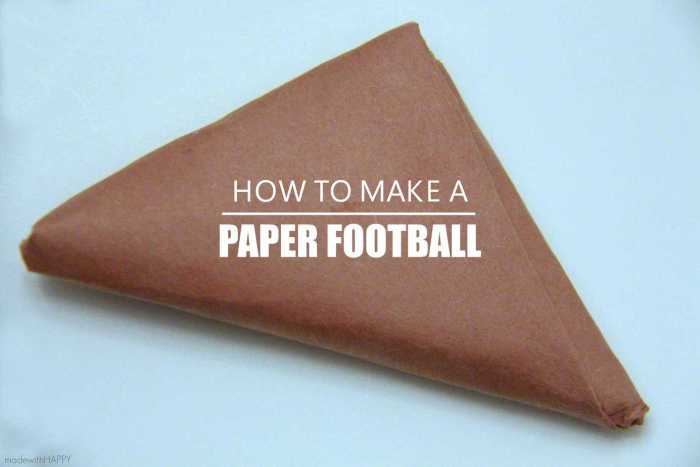 Football Fun with Kids | Football Bingo Printables | Football TIC-TAC-TOE | How to make a paper football | www.madewithHAPPY.com