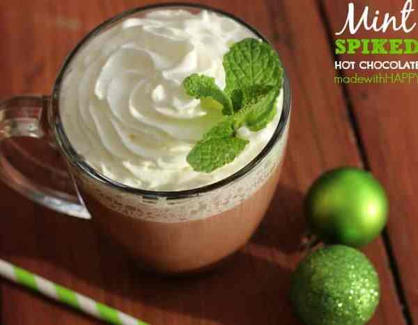 Mint Spiked Hot Chocolate
