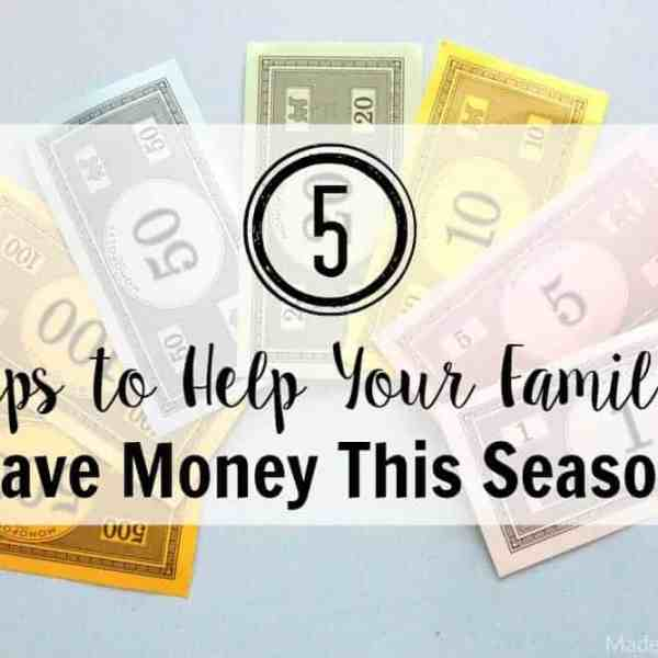 5 Tips to Help Your Family Save Money This Season