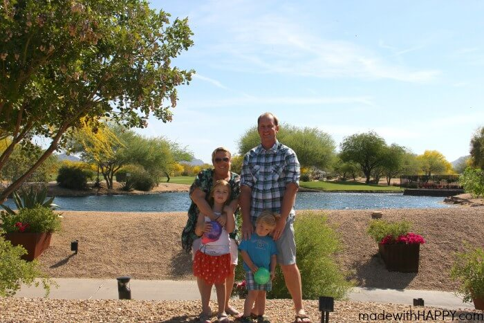 Made with HAPPY Family Picture at JW Desert Ridge | Spring Break