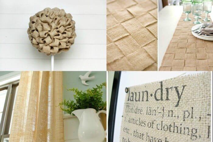 28 Burlap Projects | Burlap DIY Projects | Burlap Home Decor | Burlap DIY gifts | Burlap Outdoor Projects | Simple Burlap Crafts | www.madewithHAPPY.com