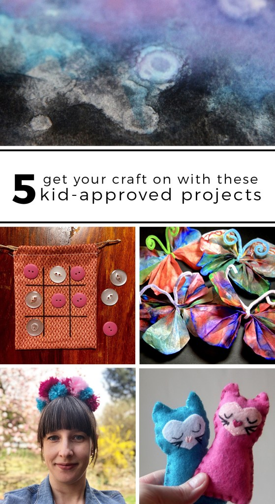 Get your craft on with these 5 kid-approved projects - Made With Lev   #kidscrafts #craftingwithkids #familyfun #craftproject #craftideas #watercolor #pompoms #coffeefiltercrafts #travelgames #toddlercrafts #plushies #feltcrafts
