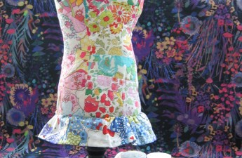 Mad For Fabric Liberty Fabric Scrap Mannequin Pin Cushion