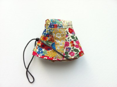 Liberty Fabric Scrap Sun Hat Folded View