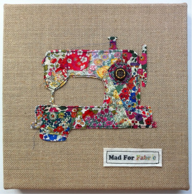 Mad For Fabric - Liberty Fabric Scrap Art