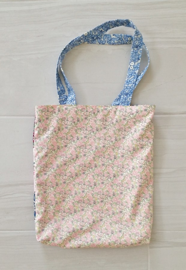 Mad For Fabric DIY Liberty London Patchwork Tote - Back View