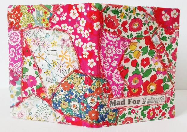 Mad For Fabric - DIY Fabric Covered Mini Notebook Front and Back View