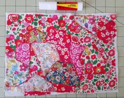 Mad For Fabric - DIY Mini Notebook Fabric Scrap Gluestick with Zigzag Stitch
