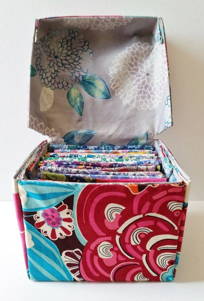 Mad For Fabric - DIY Fabric Box With Attached Lid