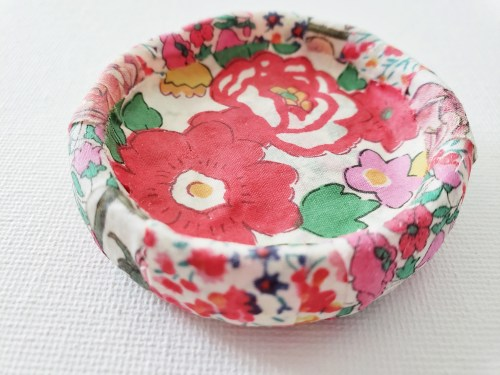 Mad For Fabric - Dried Martha Stewart Decoupage Air Dry Dish Top View 2