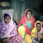 Hifajat Miya's wife, mother, daughter (L-to-R)