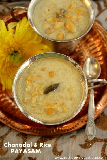 chana dal and rice payasam