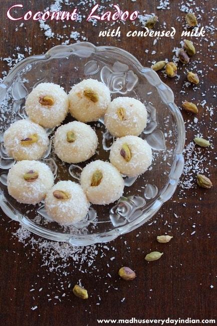 coconut ladoo recipe with condensed milk