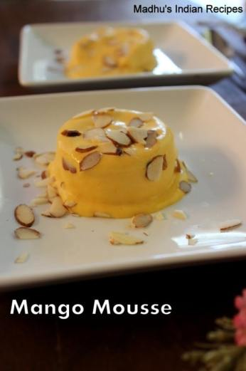 mango moussee with no agar agar or no gelatin #diwali