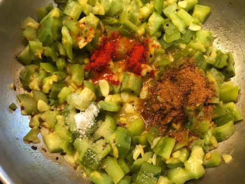ridge gourd curry with spices