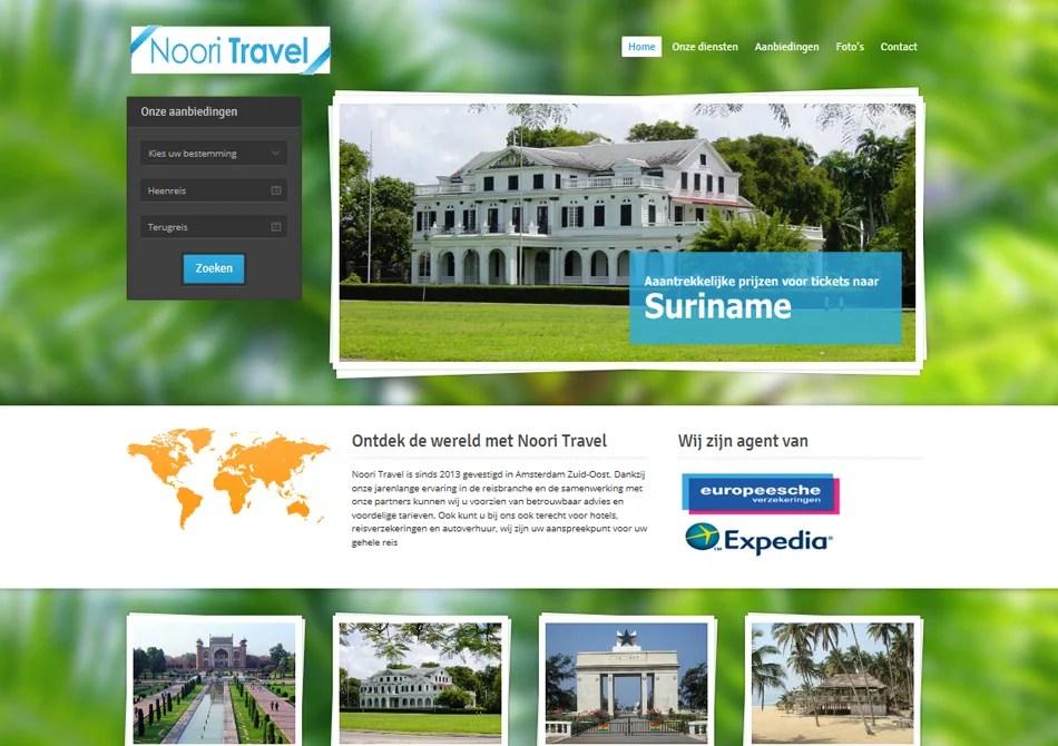 Webdesign reisbureau Noori Travel