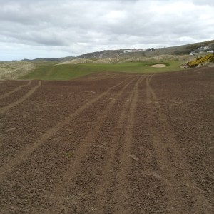 The new 8th, a great golf hole in the making.