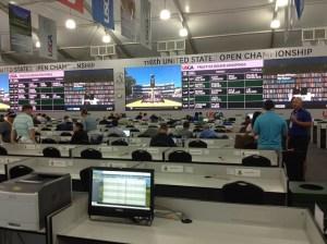 Inside the media centre - 2016 US Open