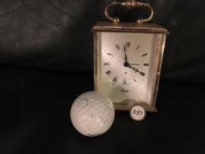 Golf on the clock.