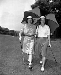 Peggy (left) with Babe
