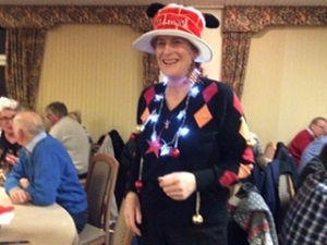Winner of Whittington Heath's Christmas jumper comp thanks to Sue Marchant's silly hat!