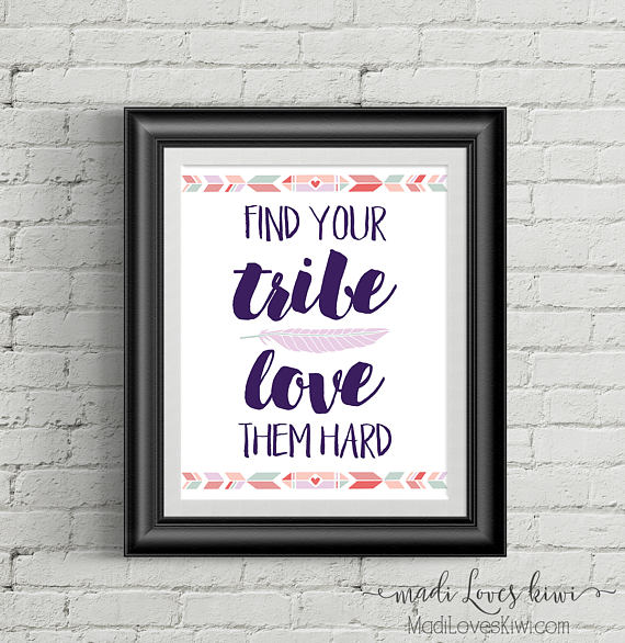 Download Find Your Tribe Love Them Hard | Boho Nursery Wall Art ...