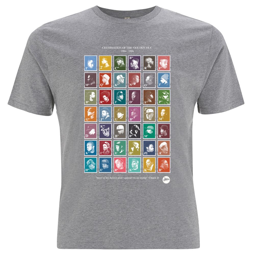 5151b3bc7 Golden Era Hip-Hop Stamps T-Shirt (Grey) - Madina