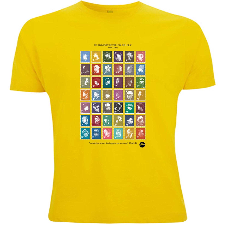 cheap for discount c06a3 786f8 GoldenEra Hip-Hop Stamps T-Shirt (Yellow) - Madina