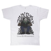 Game of Microphones TShirt MF Doom White