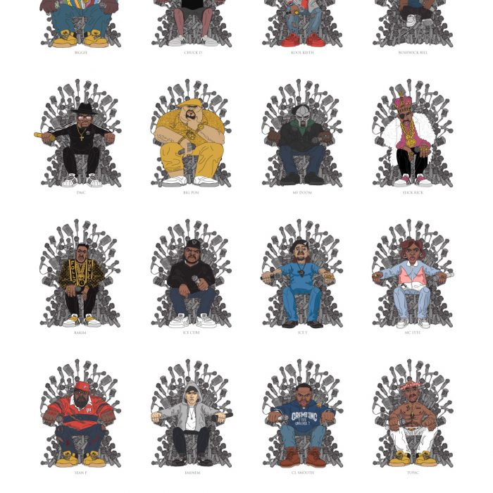 Game of Microphones Edition1 A2 Print