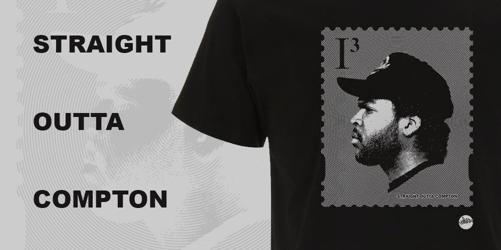 Straight Outta Compton Ice Cube Stamp