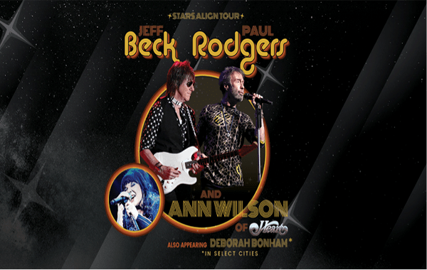 "Jeff Beck & Paul Rodgers + Ann Wilson of Heart Announce ""Stars Align Tour"""