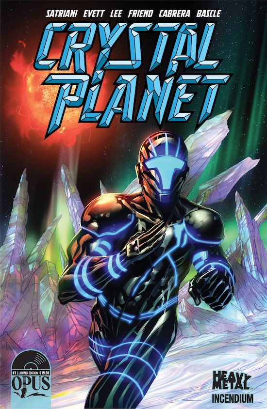 Joe Satriani's 'Crystal Planet' comic books coming from Heavy Metal and Incendium under Opus imprint