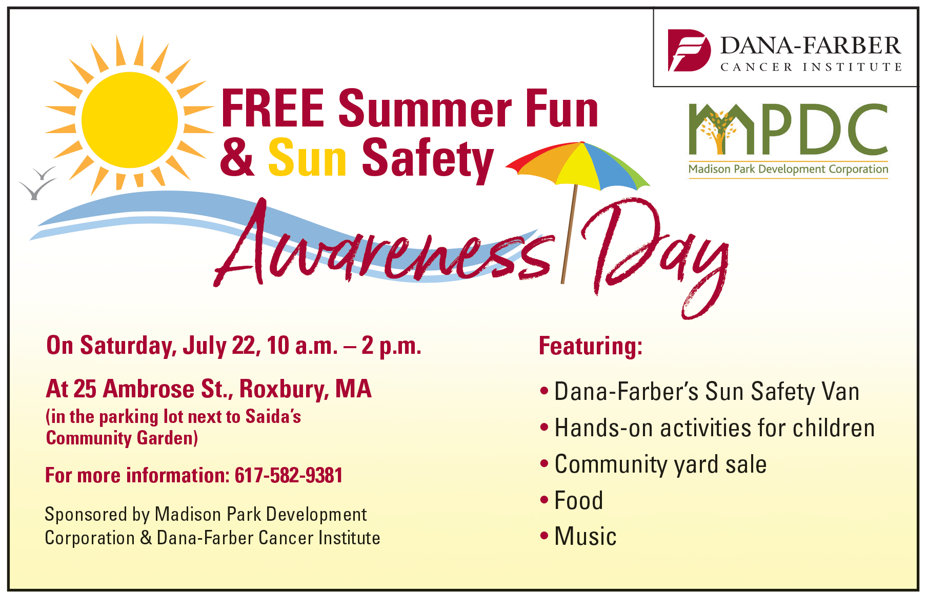 Summer Fun Amp Sun Safety Awareness Day