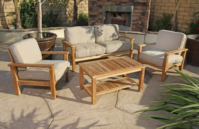 simple teak smith and hawken outdoor furniture – madison art center