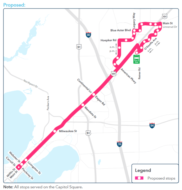 Route 23 proposed map