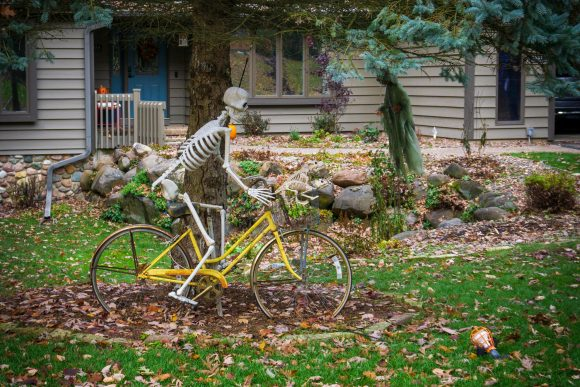 Skeleton on a Bicycle